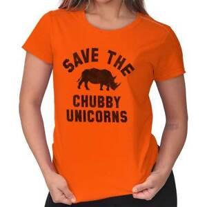 Save-The-Chubby-Unicorns-Funny-Rhino-Hipster-Tee-Shirts-Tshirts-For-Women