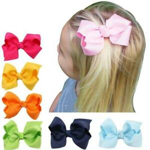 20PCs-Baby-Big-Hair-Bow-Boutique-Girls-Alligator-Clip-Grosgrain-Ribbon-Headbands