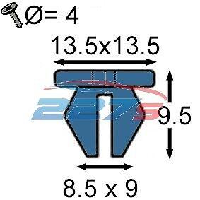10x 9mm trou vis rondelles-équivalent à honda 90676-SA7-003