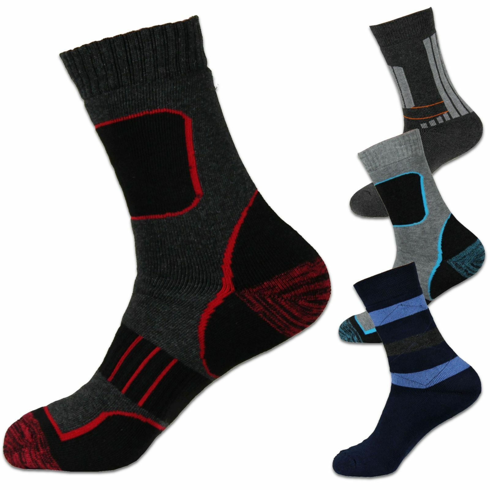 ►24 Paar Thermo Socken Strümpfe Warme Dicke Winter Sport Arbeitssocken Herren