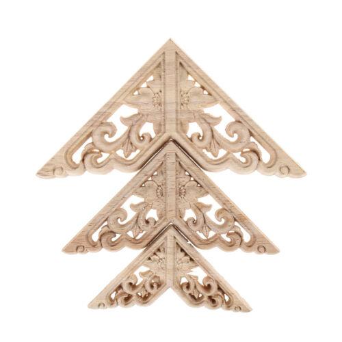 Bois sculpté coin onlay applique cadre Home Decor meubles artisanat non peint k