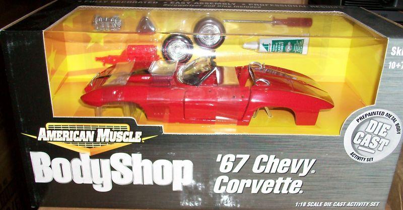1967 Corvette Rojo Kit 1 18 Ertl American Muscle 36520