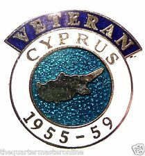 Cyprus Conflict Veterans Lapel Pin Badge