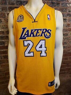 Adidas Los Angeles LA Lakers Kobe Bryant 24 60th Anniversary Jersey Yellow 52   eBay