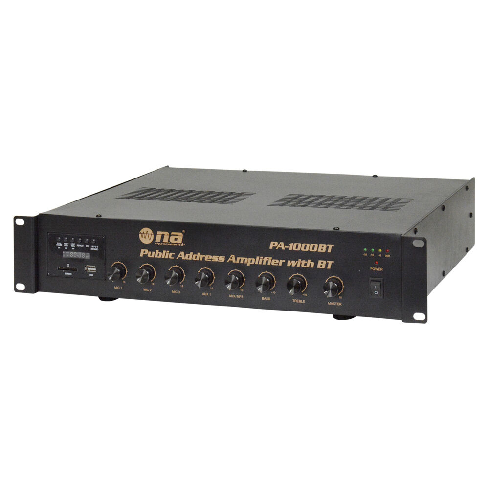 Nippon America PA Amplifier with blueetooth 720 Watts  PA-1000BT
