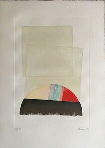 Eugenio Carmi grande incisione a colori Composizione 88x62 firmata numerata