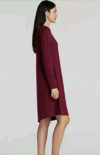 NWT Eileen Fisher Passion Flower Merino Wool Jewel Neck Sweater Dress Sz.S