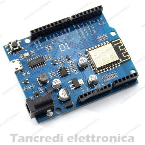 SCHEDA BOARD WEMOS D1 WIFI CH340 CON ESP8266 ESP-12E ARDUINO UNO R3 COMPATIBILE