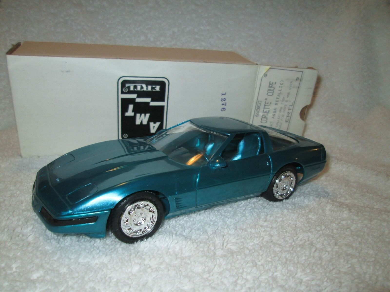 1996 Chevrolet Corvette Coupe Brillo Aqua Dealer Promo Loose Expositor Pieza