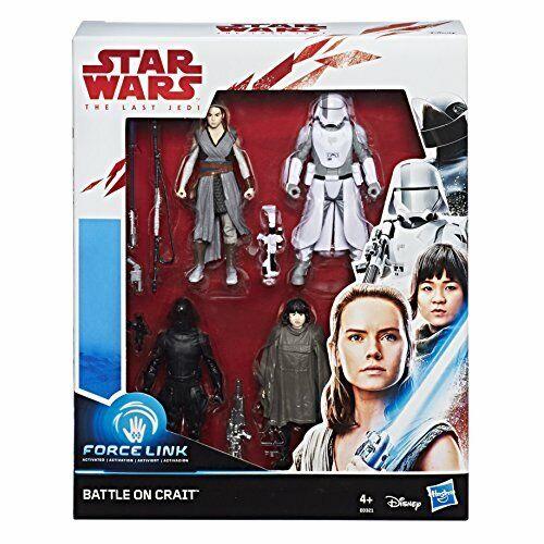 3.75 IN environ 9.52 cm Star Wars E0321EU4 Force Link Bataille sur CRAIT 4 Figure Pack