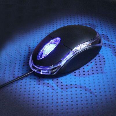 del ratón cable óptico 3D USB ajustables para IBM Lenovo MAC PC Laptop Notebook