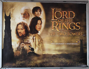 Cinema-Poster-LORD-OF-THE-RINGS-TWO-TOWERS-2002-Main-Quad-Elijah-Wood