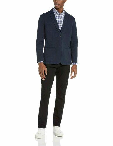 Size Large Navy, Navy Goodthreads Men/'s Standard-Fit Stretch Twill Blazer