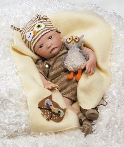 Paradise Galleries Hoot  Hoot  Preemie niño bebé muñeca que se parece a un bebé real