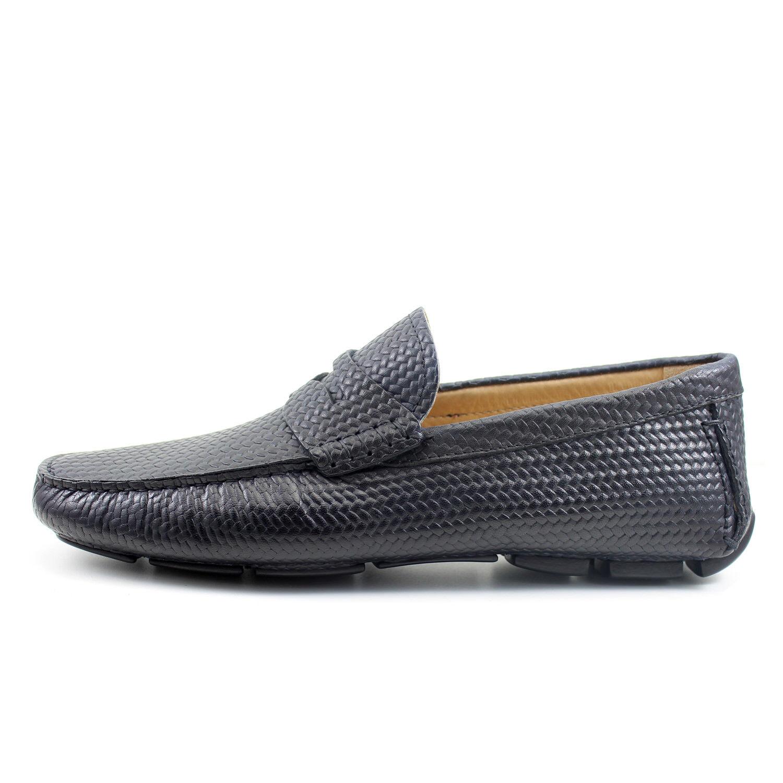 Men's mocassin BLACK CAR SHOES leather shoes handmade Italian GIORGIO REA 7886NE