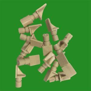 12 x Placcato in Nichel 4mm Vanga Supporti per Mensole Chiodi