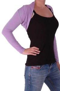 piene a da maniche con maniche in Coprispalle maglia a maglia elasticizzata donna lunghe lunghe piane lavorati 5qPq6xwz