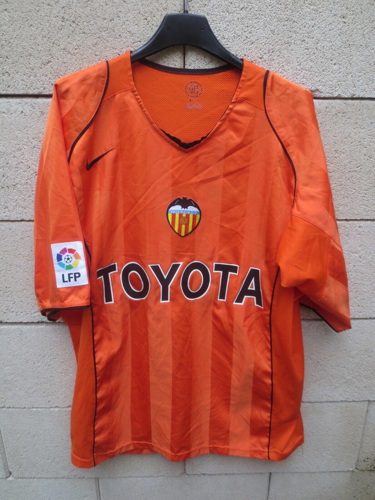 02a63440a Maillot VALENCE VALENCIA 2005 2005 2005 away shirt jersey camiseta NIKE  orange football XL d684df
