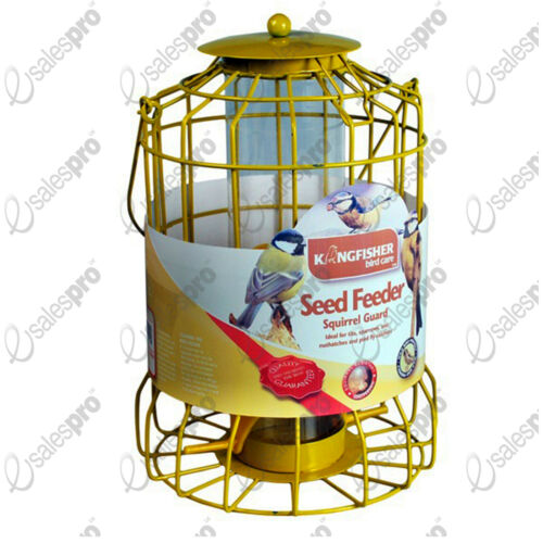 Kingfisher Squirrel Guard Bird SEED Feeder. Wire Cage Lantern Style. Large.