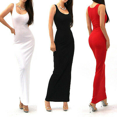 Hot Sexy Women Sleeveless Bandage Bodycon Evening Party Cocktail Long Maxi Dress