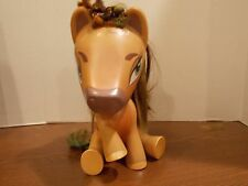 "10"" Large Gold My Little Pony  Sparkles Brown Hair Sitting MLP girls toy"