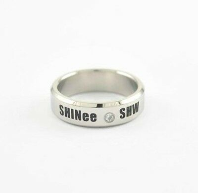 SHINEE SHW WORLD KPOP STAINLESS STEEL RING NEW FREE SHIPPING
