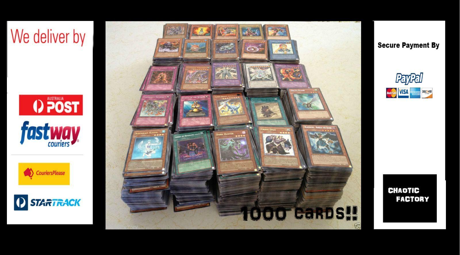 Yugioh 1000 Cards Tin Genuine Konami   Holos, Rares & Boosters  Free postage