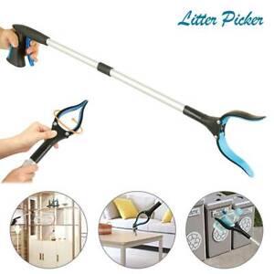 2X-LONG-REACH-FOLDABLE-GRABBER-LITTER-PICKER-HELPING-HAND-REACHER-HELD-PICK-TOOL