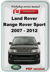 Land rover range rover sport workshop & owners manual | free download.