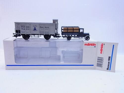 """LOT 53542Schöner Märklin H0 Museumswagen 1996 /""""Salach Papier/"""" in OVP"""