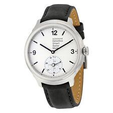 Mondaine Helvetica No 1 Bold Smart White Dial Black Leather Mens Watch