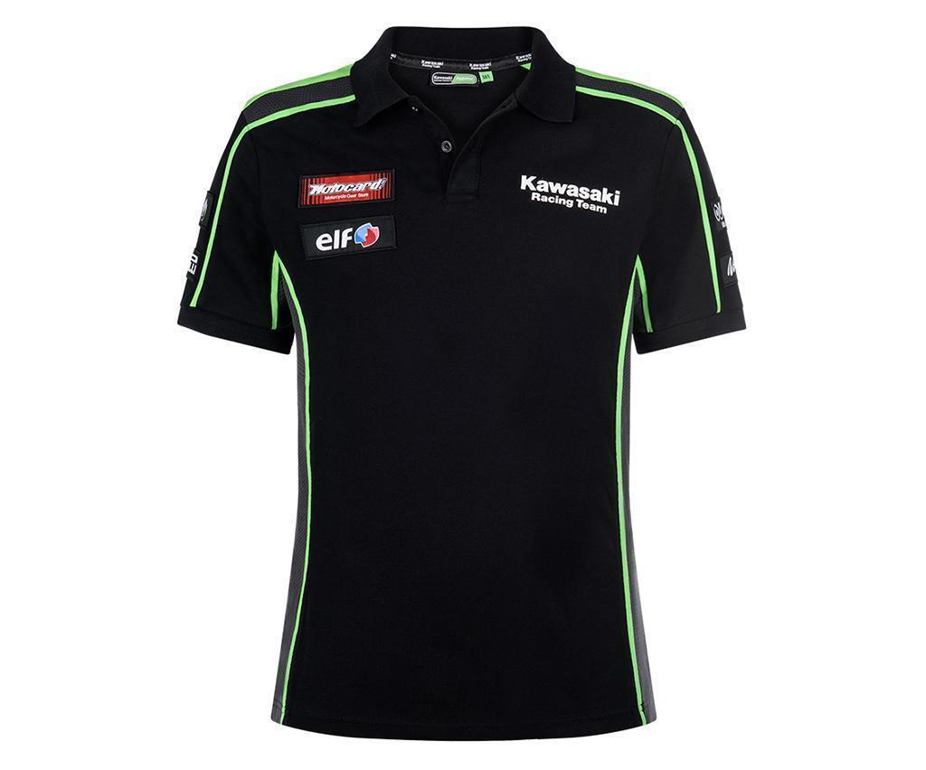 KAWASAKI SBK Replica Polo Shirt Gr. 2XL/3XL schwarz grün, Art.Nr. 139KRM0076