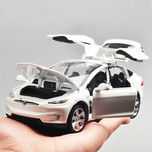 1-32-Tesla-Model-X-90D-SUV-Diecast-Model-Car-Toy-Sound-amp-Light-Collection-White