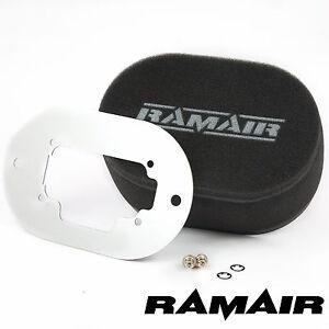 RAMAIR-Carb-Air-Filter-With-Baseplate-Weber-32-36-DGAV-100mm-Internal-Height