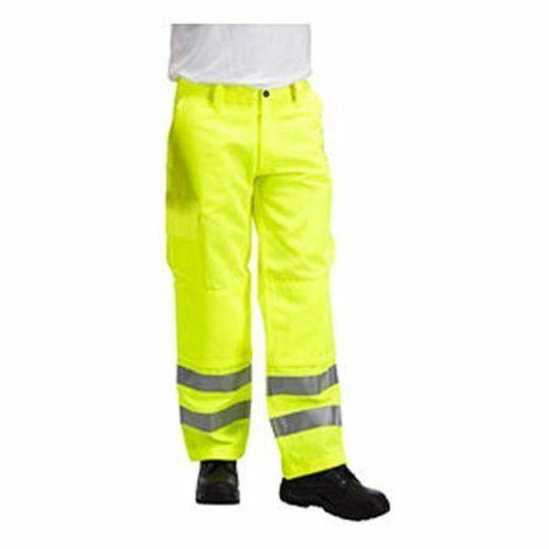 Predal Workwear Fire Retardant Hi Vis Yellow Kneepad Trousers FRA214HV(H)K