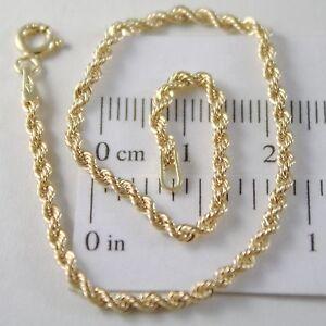 Bracelet-or-Jaune-ou-Blanc-750-18K-Corde-Tresse-18-5-cm-Fabrique-en-Italie