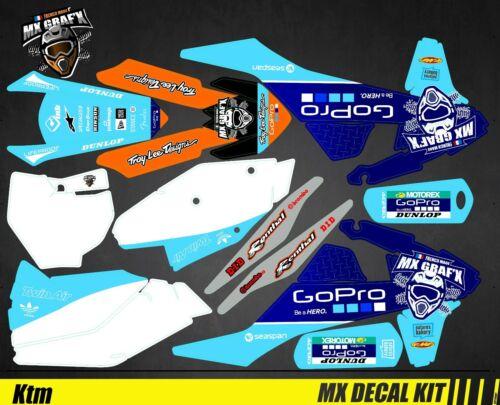 Kit Déco Moto pour SX-F GoPro Blue Edition Mx Mx Decal Kit for Ktm SX