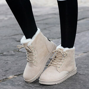 Womens Faux Suede Lace-up Ankle Booties
