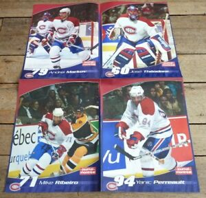 Ultra-Rare-4-en-1-French-Posters-Affiches-NHL-Montreal-Canadiens