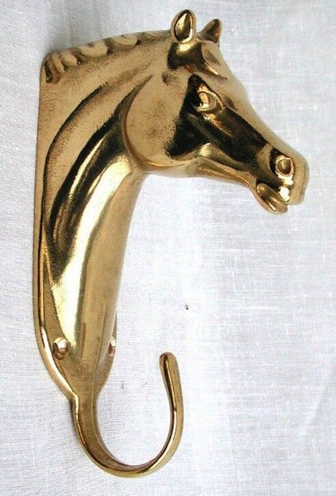 Hanger hook clothes tree brass horse head 14 cm   free shipping!