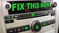 Chevrolet Chevy Silverado Peeling Stereo Radio Button Sticker Fix Decals