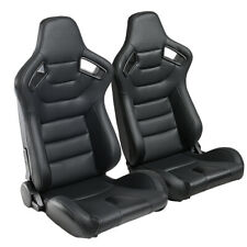 Car Auto Racing Seat Withsliders Set Pu Leatherette Universal Bucket Black 1pair Fits Toyota Celica