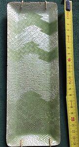 ANDO-Cloisonne-vassoio-portapenne-verde-e-argento-originale