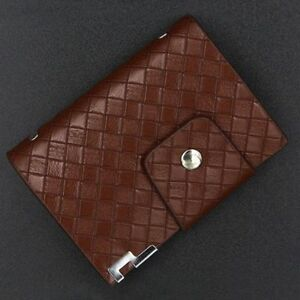 Leather-26-Card-Slots-Clear-Card-Holder-Card-Holder-Purse-Wallet-Card-Pouch
