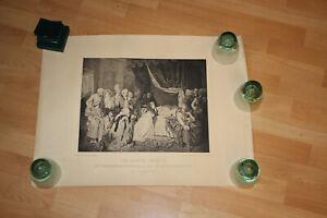 Antike Radierung, Tod Franz II von Österreich Ungarn