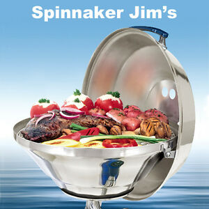 NEW-Magma-A10-215-Marine-Kettle-Stainless-Steel-GAS-BBQ-Grill-17-034-PARTY-Boat-RV