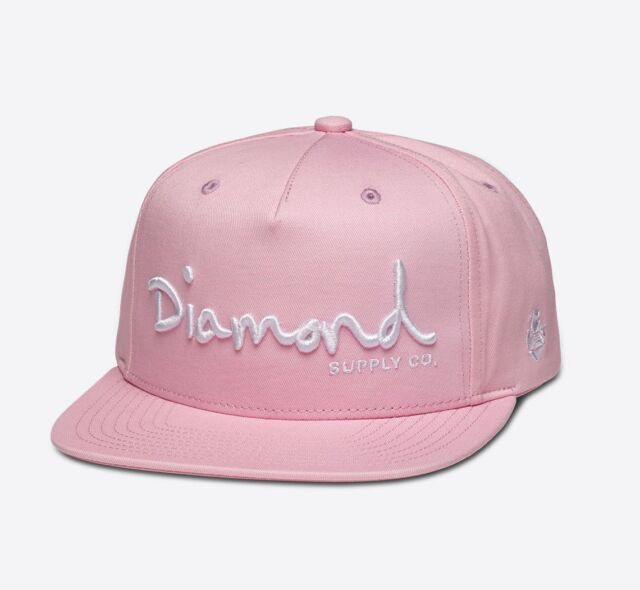 Men Diamond Supply Co OG Script Snapback Pink Hats 9u4dyfcd Hottest ... f5ca5271c28