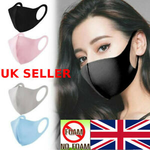 Face Masks Breathable Washable Reusable 4 Colours Uk Seller Ebay