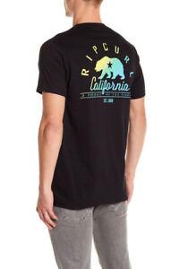 New Men/'s California Map Bear Long Sleeve Black T Shirt Cali West Coast Tee V168