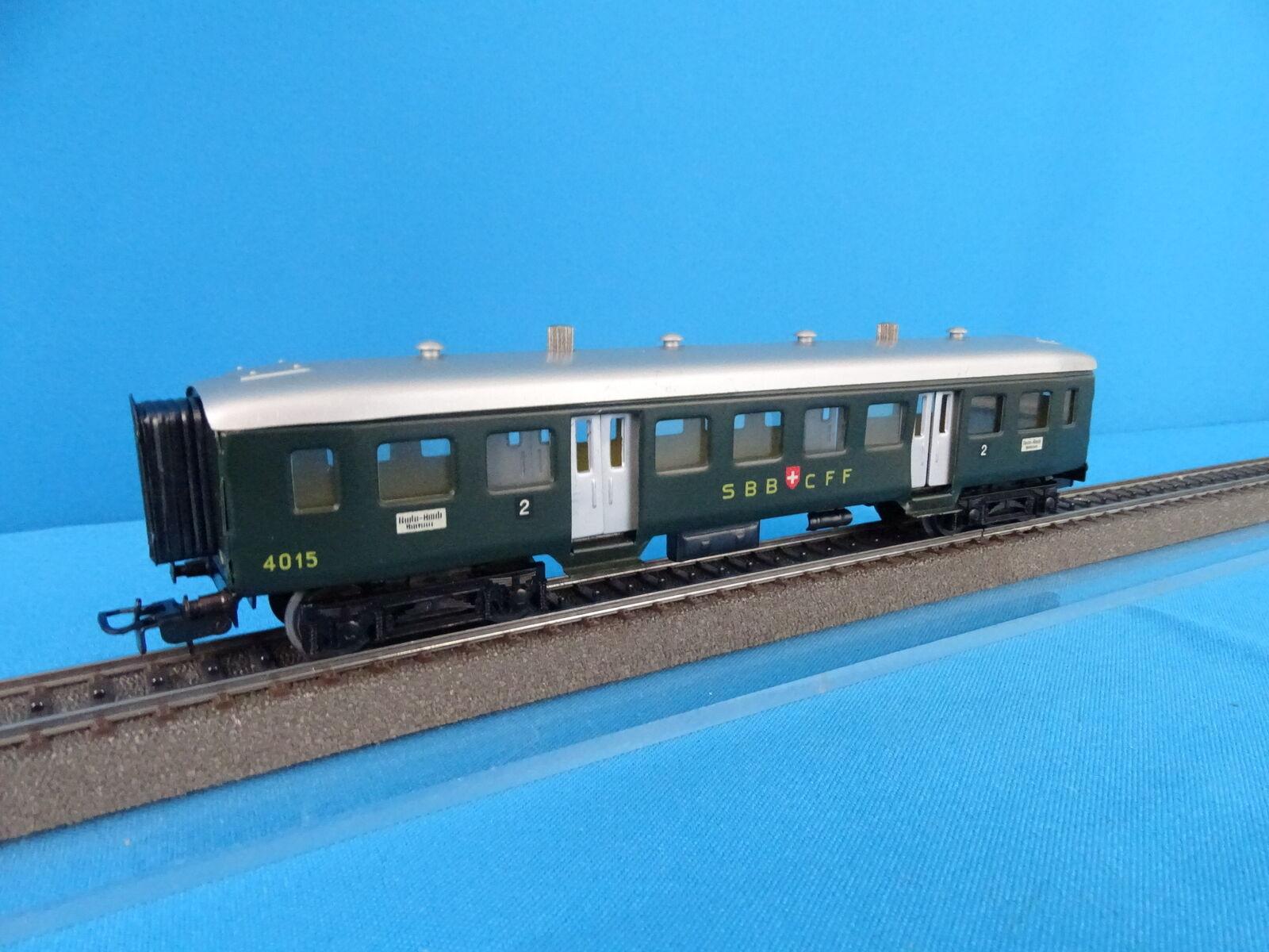 Marklin 4015 SBB CFF Leichtschnellzugwagen 2 kl OVP